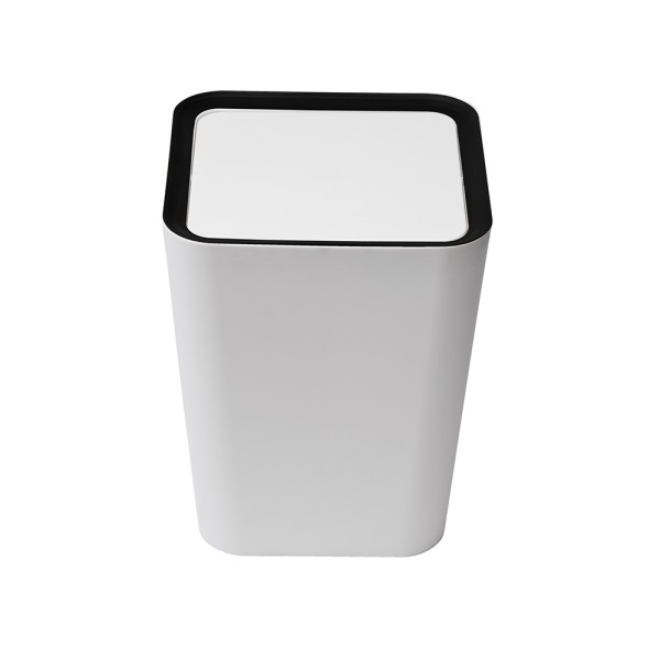 Square Flip Bin (White) By Qualy