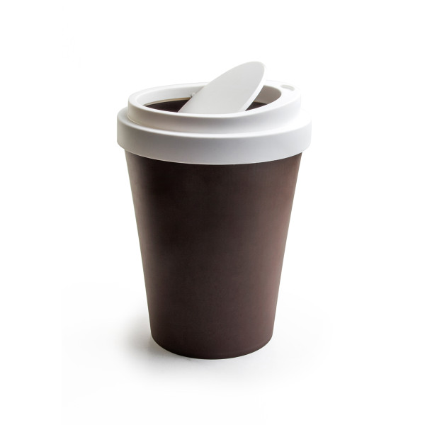 Mini Coffee Bin (Brown) By Qualy