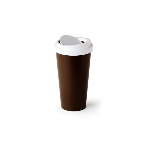 Micro Coffee Bin (Brown) by Qualy