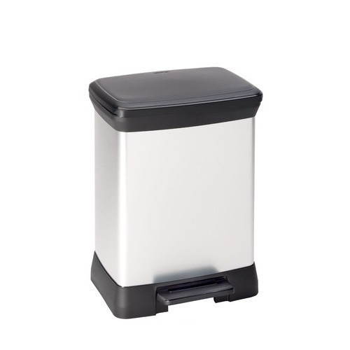 Curver Deco Bin Rectangle Metallic 30L