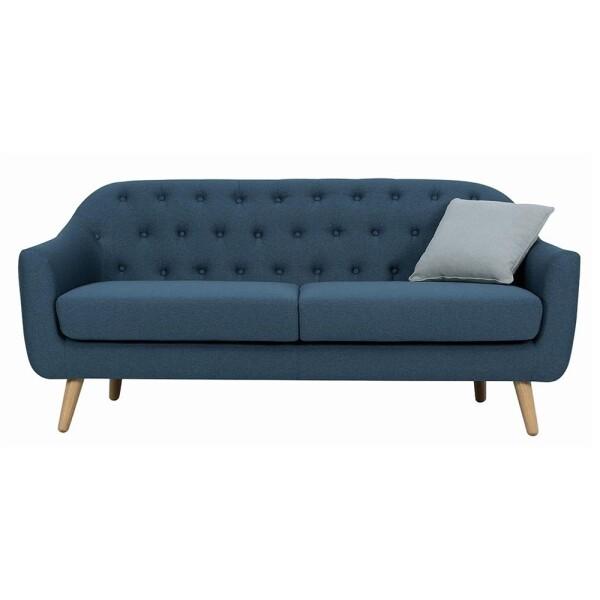 Senku 3 Seater Sofa with Oak Leg, Jungle Green