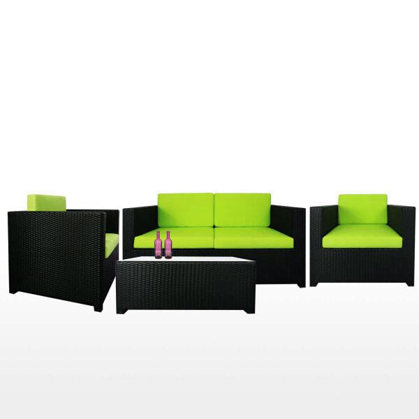 Fiesta Sofa Set II, Green Cushion