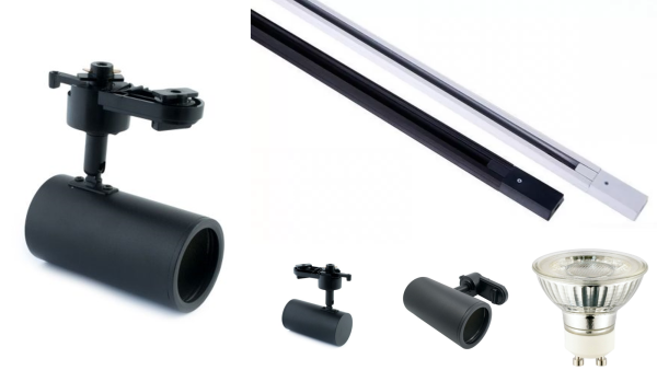 Bundle Track Promotion (While Stocks Last) - 1 meter Track (White or Black) + 3 x SL-T704 + 3 x APS LEDs GU10 Dimmable