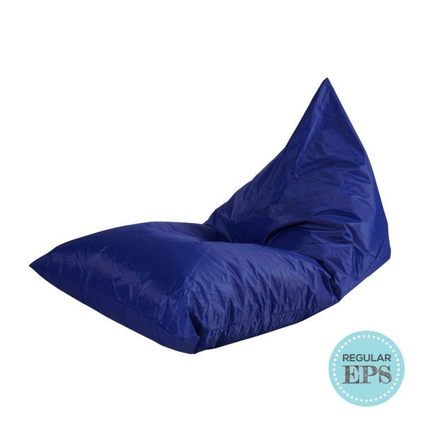 Tetra Lounger bean bag by SG Beans (Blue, Regular EPS beans filling)