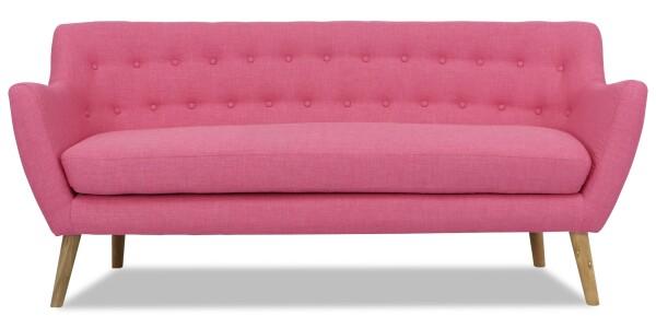 Kipling 3 Seater Sofa (Pink)