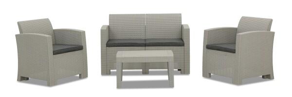 Nina 4 Seater Outdoor Sofa Set (Light Grey)
