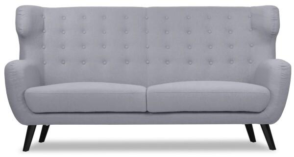 Replica WingBack Designer 3 Seater Sofa (Light Grey)