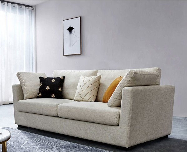Corvina 3-Seater Sofa (Cream)