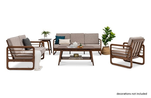 Lovi Wooden Modular Sofa Set