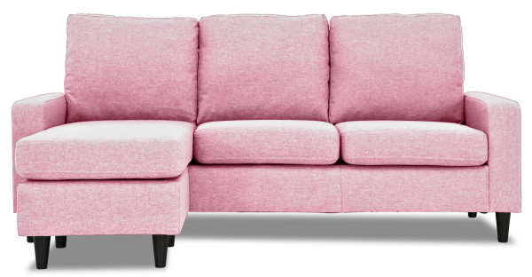 Ejiro L-Shape Sofa in Bubblegum Pink
