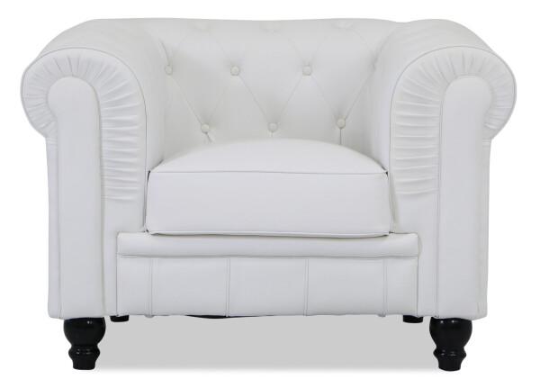 Benjamin Classical 1 Seater Sofa (White)