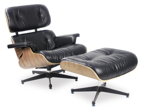 AS-IS Clearance: Designer Replica Eames Lounge Chair (Black) IN32976