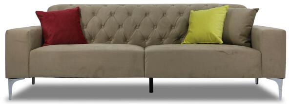 Cecilie 3 Seater Sofa (Dark Champagne)