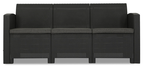 Nina 3 Seater Sofa (Dark Grey)