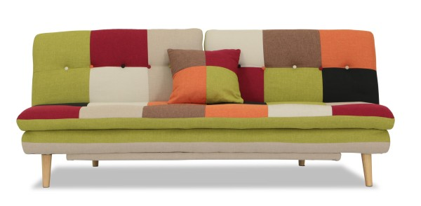 Jeza Patchwork Sofa Bed Red Mix