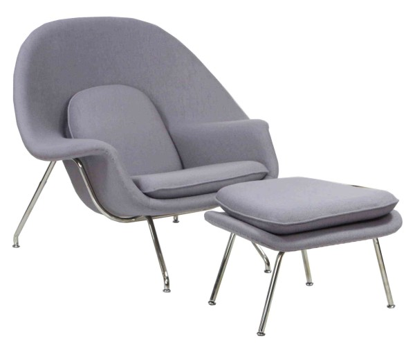 Designer Replica Womb Chair In Light Grey