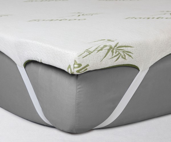 Isleep Memory Foam Topper - (2 Inch with Bamboo Cover)