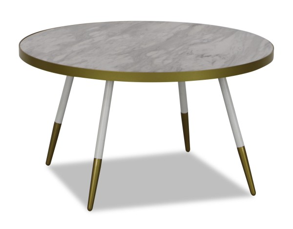Noveau Coffee Table in White Marble
