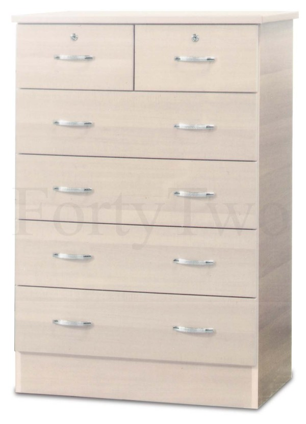 Chest of Drawers DR05 Whitewashed
