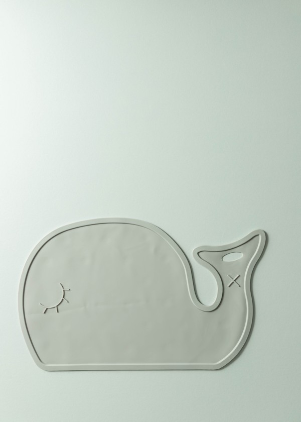 Maris Silicone Whale Placemat (Rhino Grey)