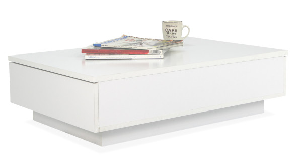 AS-IS Clearance: Avellino Low Coffee Table in Snow White RR34061