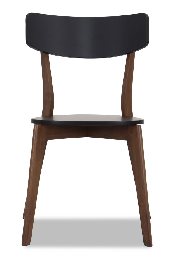 Claire Dining Chair Walnut with Black