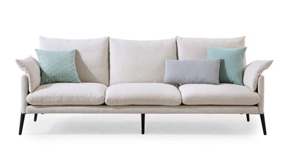Erica 3 Seater Sofa (Cream)