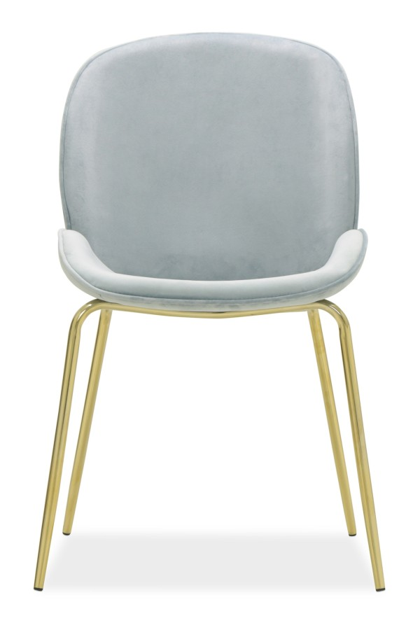 Beetle Chair Replica with Gold Legs (Grey)