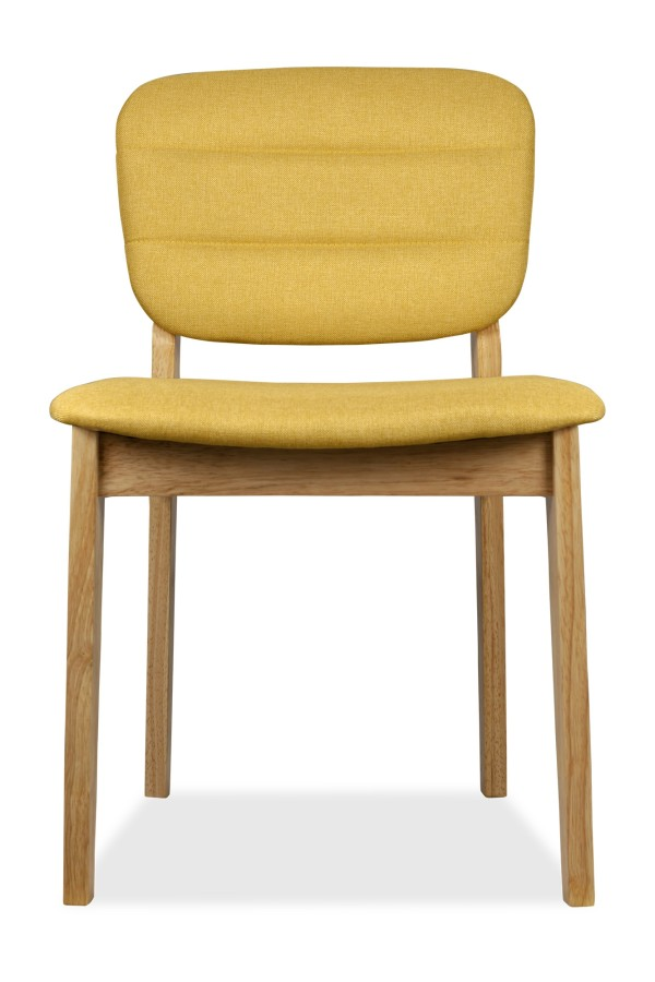Monet Dining Chair Natural with Yellow Cushion