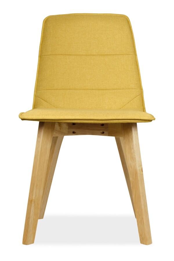 Mahala Dining Chair Natural with Yellow Cushion