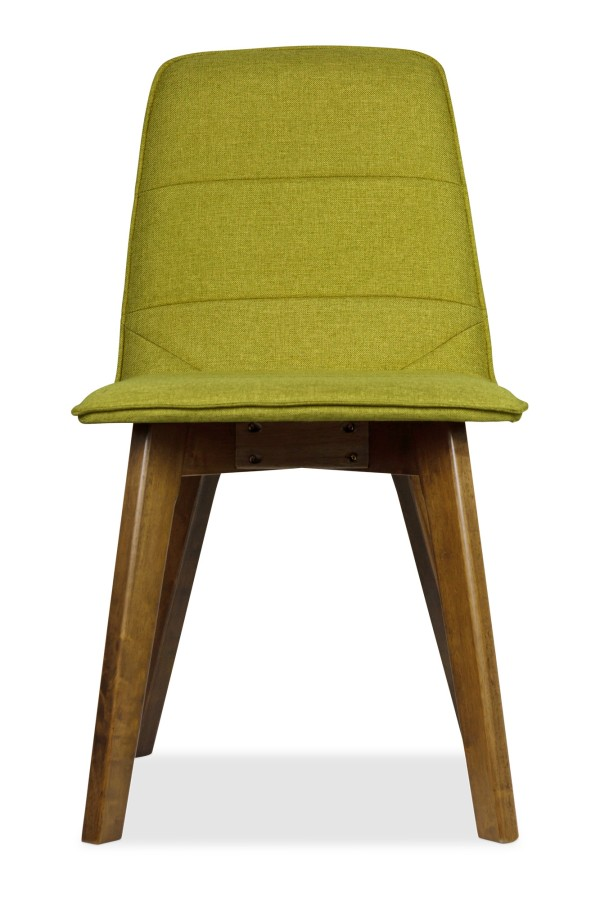 Mahala Dining Chair Walnut with Green Cushion