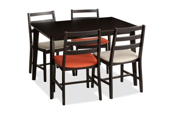Titus Dining Table Cappucino Set A (1+4)