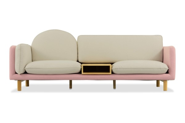 Ingrid 3 Seater Sofa (Pink)