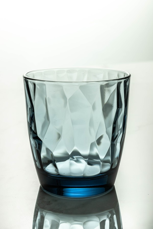 Diamond Water Glass 300ml (Ocean Blue)