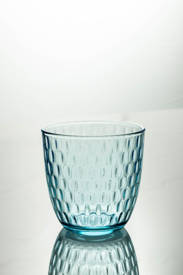 Slot Water Glass 290ml (Lively Blue)