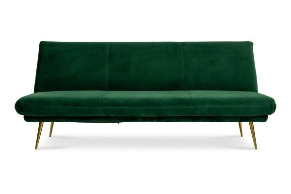 Nissa 3 Seater Sofa Bed in Green Velvet