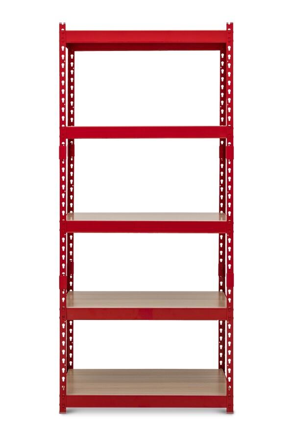 Bardrick Med Open Shelves (Red)