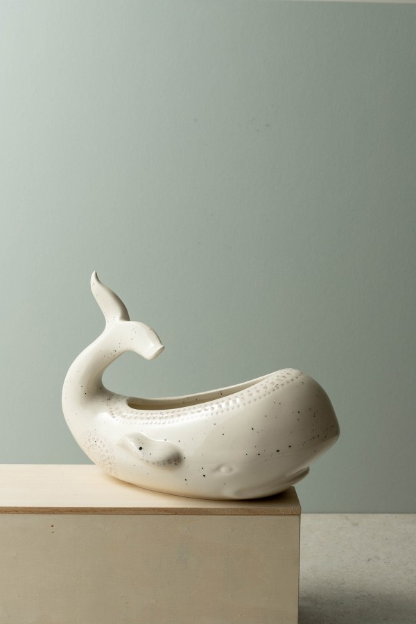 Nora Whale Serving Bowl (White)