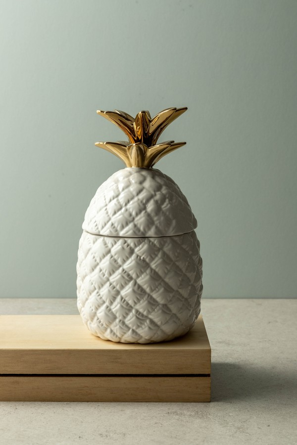 Lexi Pineapple Jar (White)