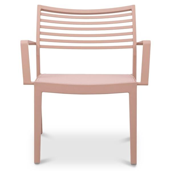 Madie Aluminium Armchair in Pink