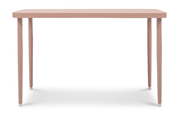 Madie Rectangular Dining Table in Pink