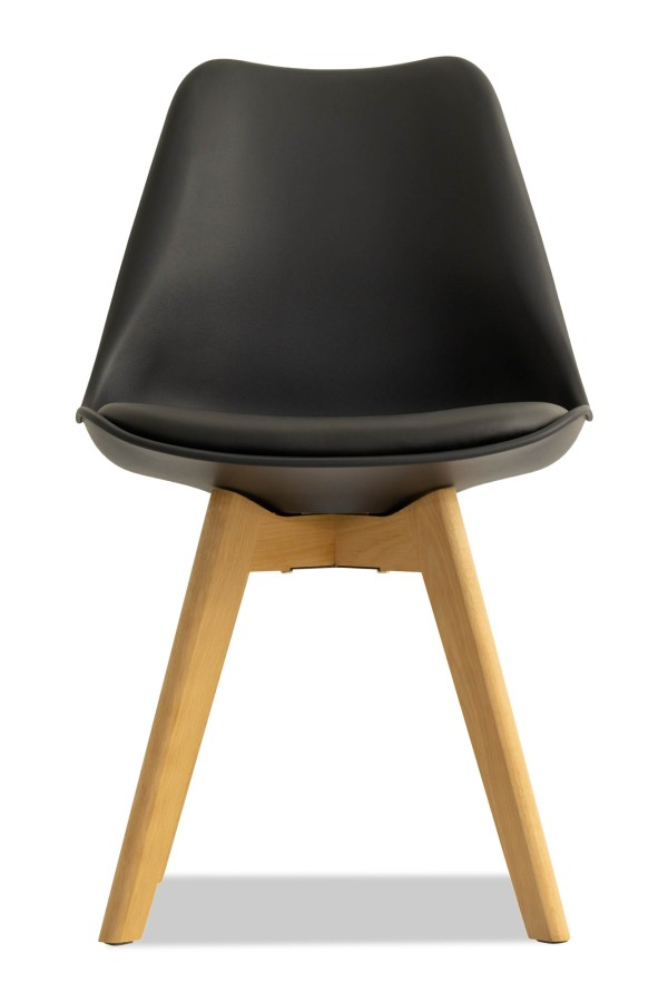 Tulip Replica Chair with Cushion (Black)