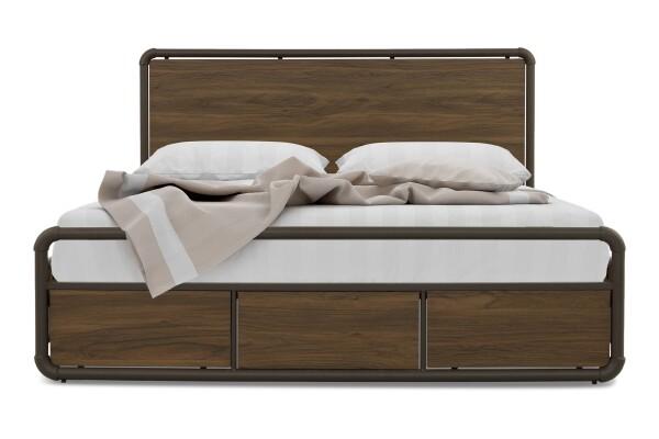 Ethel Queen Bed with Metal Base