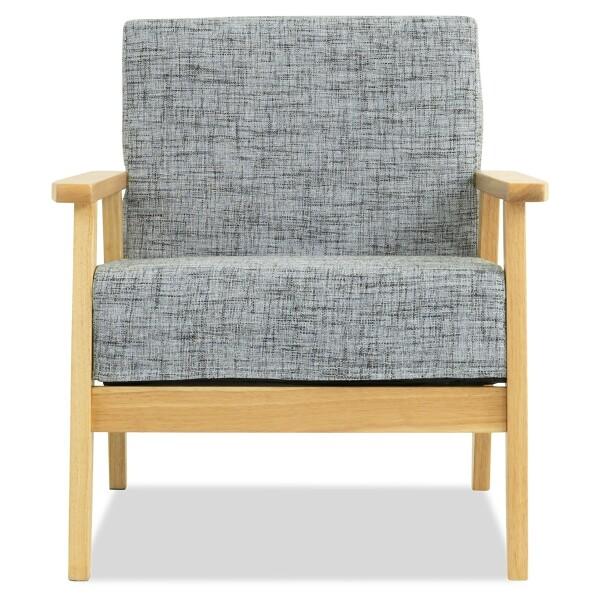 Hans 1 Seater Sofa (White-Black)