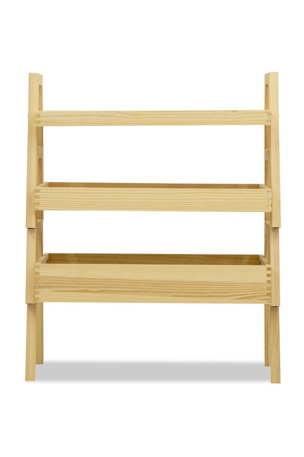 Kristie 3 Tier Storage Shelves Stand (Natural Wood)