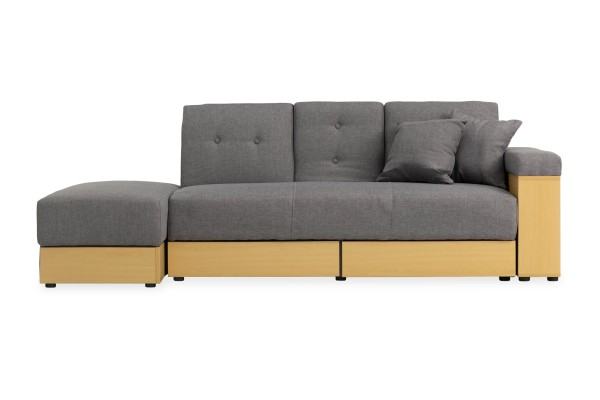 Yuno Storage Sofa Bed (Fabric Grey)