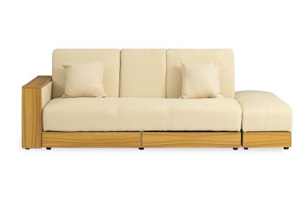 Sarai Storage Sofa Bed (Fabric Beige)