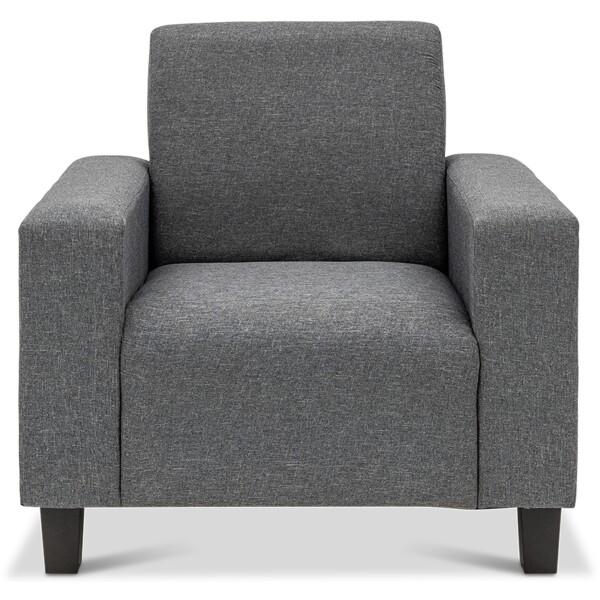 Ethna 1 Seater Fabric Sofa Grey