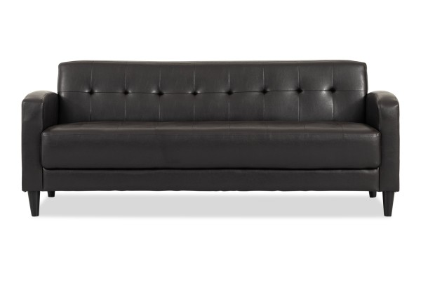 Holden 3 Seater Sofa (PVC Black)