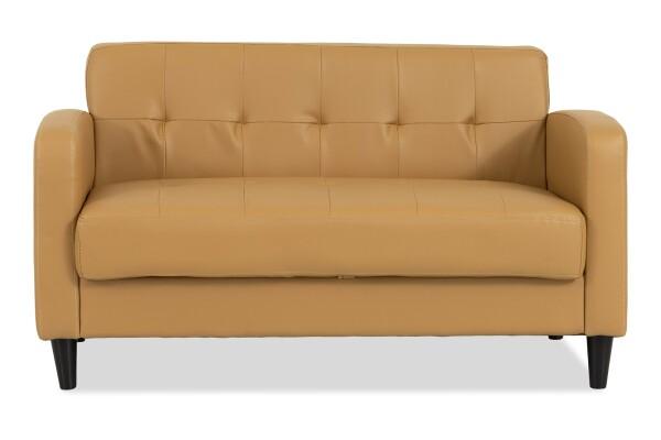 Holden 2 Seater Storage Sofa (PVC Champagne)